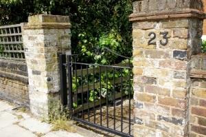 Spaced gate